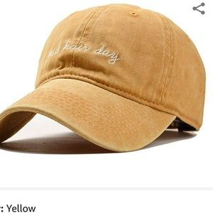 NWT YELLOW BAD HAIR DAY HAT